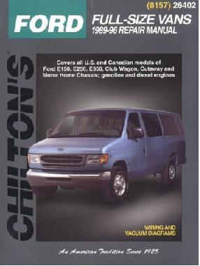 1989 - 1996 Ford Econoline Vans (E-Series) Chilton's Total