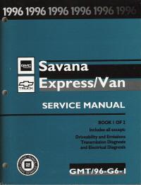 1996 chevrolet gmc savanna express van service manual. Black Bedroom Furniture Sets. Home Design Ideas