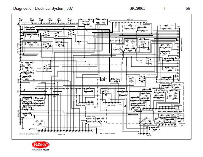 after oct 14, 2001 peterbilt 387 complete wiring diagram schematic