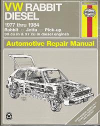 1977 1984 vw rabbit jetta pickup diesel engines haynes repair rh autorepairmanuals biz 84 Rabbit GTI Volkswagen Rabbit Rims Stock
